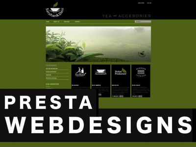 WEBDESIGN WITH PRESTA SHOP ENGINE